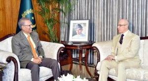 Outgoing Ambassador of Egypt to Pakistan calls on President Alvi