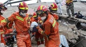China coronavirus quarantine hotel collapse kills 10