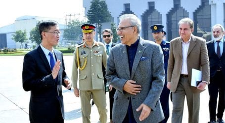President Alvi leaves for China on two-day visit