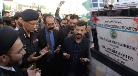 Karachi bridge renamed after army martyr Major Adeel Shahid