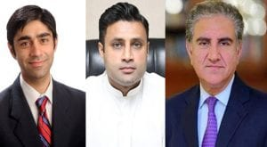 Zulfi Bukhari, Moeed Yusuf call on FM Qureshi in Islamabad