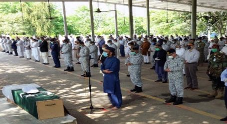 Former Naval chief Muhammad Sharif laid to rest
