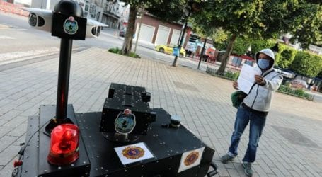 Coronavirus: Tunisia deploys 'police robot' amid lockdown