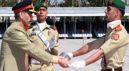 Passing out parade of national, overseas cadets held at Kakul