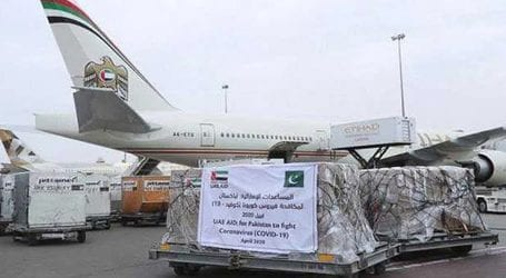 Plane carrying 14 metric tons of medical, food supplies arrive from UAE