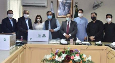 Shibli Faraz launches 'Mask4All' campaign
