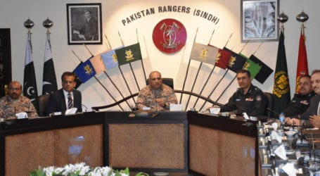 DG Rangers review law and order in Karachi