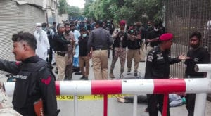 PSX building attackers eliminated within eight minutes: DG Rangers
