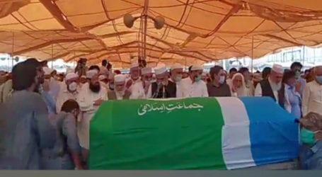 Funeral prayers of Syed Munawar Hasan offered in Karachi
