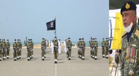 61st passing-out parade of Pak Marines held at PNS Qasim