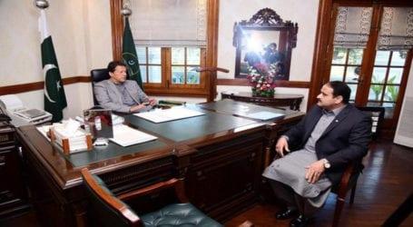 PM Imran meets Punjab Chief Minister Usman Buzdar in Lahore