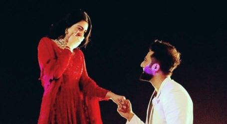 Actress Sarah Khan engaged to Singer Falak Shabir