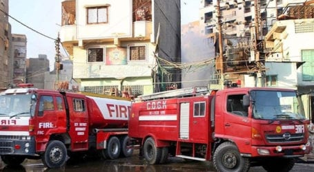 Fire engulfs chemical factory in Karachi's Shah Faisal Colony