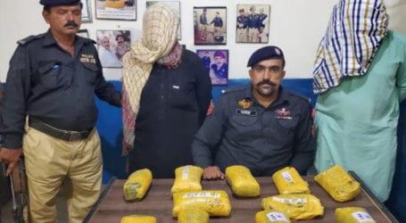 Two drug peddlers arrested, 13 kgs contraband seized