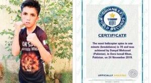 11-year-old Pakistani boy sets Guinness world records