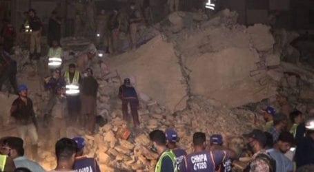 Building collapses in Karachi's Liaquatabad area