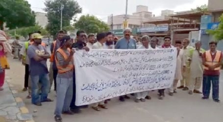 Govt employees protest over non-payment of salaries