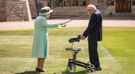 British veteran and fundraiser knighted by Queen Elizabeth