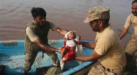 Rescue operations afoot for flood-hit victims in Dadu: ISPR