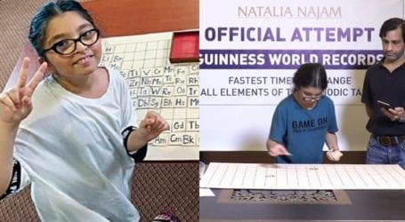 9-year old Pakistani girl beats Indian professor's world record