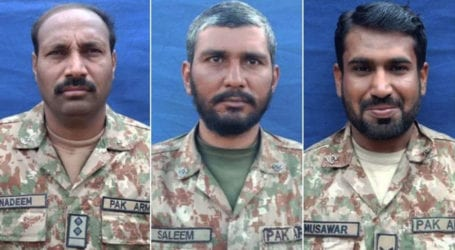 Three soldiers martyred, four injured in South Waziristan operation