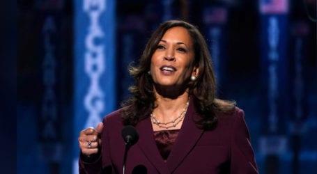 Kamala Harris accepts US vice presidential nomination