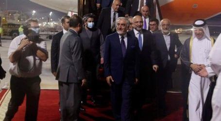 Afghan govt, Taliban arrive in Doha for peace talks