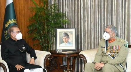 Gen Bajwa, President Alvi discusses national security issues