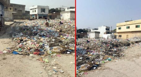 Citizens irked by piles of garbage in Rawalpindi locality