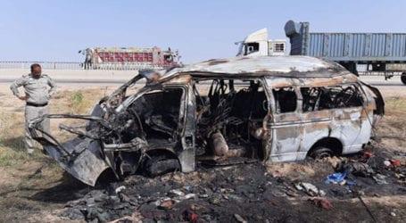 Death toll in Nooriabad passenger van blaze reaches 17