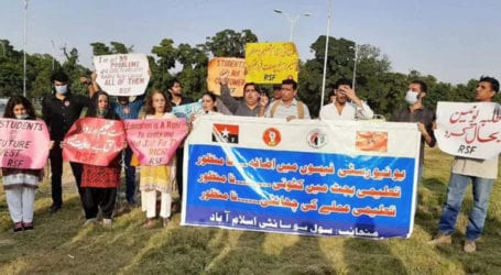 Students, civil society protest against fee raise in Islamabad