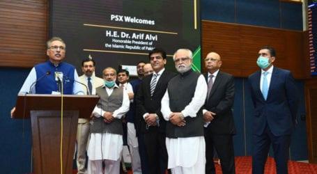 President Alvi expresses satisfaction over PSX's performance
