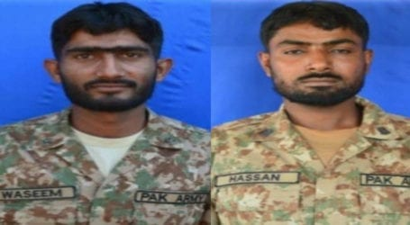 Two soldiers martyred in Indian firing across LoC