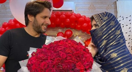 Shahid Afridi celebrates 20th wedding anniversary