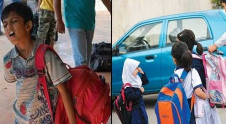 KP becomes first province to reduce burden of schoolbags