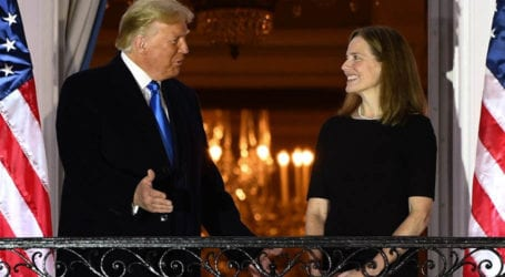 Trump celebrates US Supreme Court confirmation