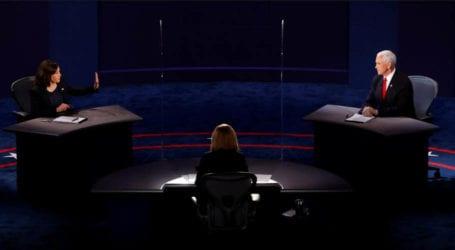 Harris, Pence clash over Trump's virus response at VP debate