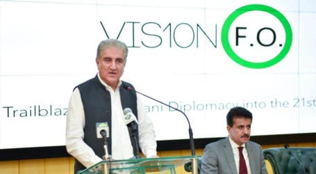 FM Qureshi inaugurates Foreign Office Media Centre