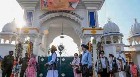 Indian Sikh pilgrims arrive to celebrate Guru Nanak 551st birth anniversary