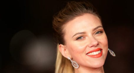 Newly-wed Scarlett Johansson makes first public appearance