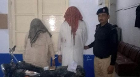 Two criminals arrested after police encounter in Sohrab Goth