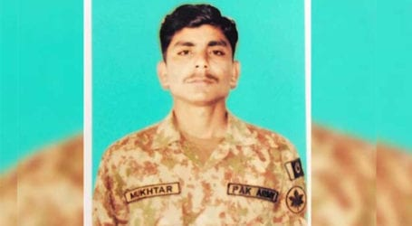 22-years-old Pakistani soldier martyred in Indian ceasefire violation