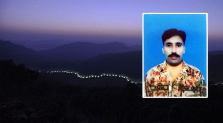 Pakistani soldier martyred in Indian ceasefire violation