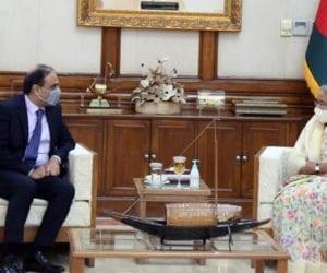 Bangladesh PM meets Pakistani envoy, agrees to bolster ties