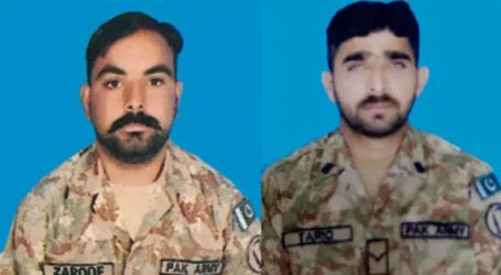Two Pakistani soldiers martyred in Indian firing along LoC