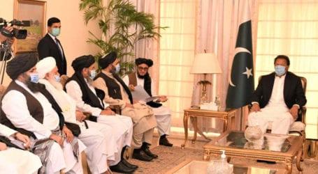 Afghan Taliban call on PM Imran Khan, discuss peace process