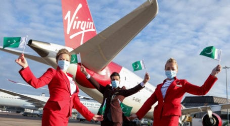 First Virgin Atlantic flight lands at Islamabad airport
