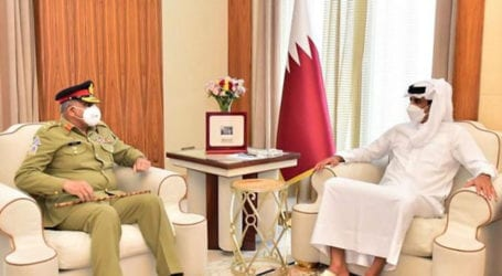 General Bajwa discusses security cooperation with Qatar Emir
