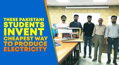 Karachi students develop machine to generate cheap electricity