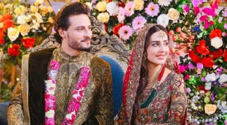 Actor Osman Khalid, Sidra Niazi's wedding picture leaves fans delighted